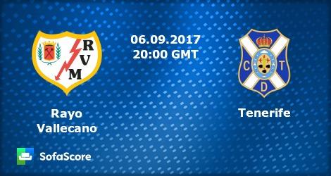 Rayo Vallecano vs Tenerife прогноза за 06.09.2017
